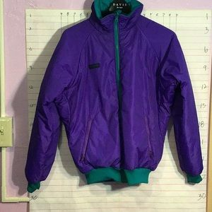 COLUMBIA men's reversible winter coat sz S purple
